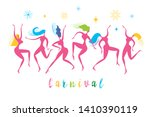 dancing women  vector... | Shutterstock .eps vector #1410390119
