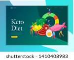 keto diet landing page template.... | Shutterstock .eps vector #1410408983