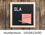 letterboard with acronym sla... | Shutterstock . vector #1410412430