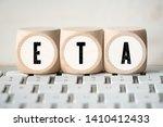 cubes on a computer keyboard... | Shutterstock . vector #1410412433