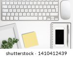 modern computer workplace with... | Shutterstock . vector #1410412439