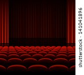 theater interior with red... | Shutterstock .eps vector #141041896