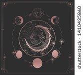 vector illustration set of moon ... | Shutterstock .eps vector #1410435860
