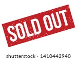 sold out rubber stamp. red sold ... | Shutterstock .eps vector #1410442940