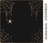 halloween golden spiderweb...   Shutterstock .eps vector #1410448619