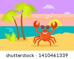 seascape  palm tree with... | Shutterstock .eps vector #1410461339