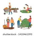 agriculture and farming vector  ... | Shutterstock .eps vector #1410461393