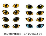 Cat And Wild Animals Eye Vector ...