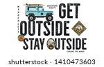 travel badge design. outdoor... | Shutterstock . vector #1410473603