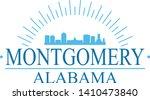 montgomery alabama. banner... | Shutterstock .eps vector #1410473840