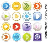 arrow sign icon set. eps 10 | Shutterstock .eps vector #141047590