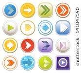 arrow sign icon set. eps 10 | Shutterstock .eps vector #141047590