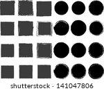 set of black grunge shapes | Shutterstock .eps vector #141047806