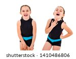 portrait of identical twin... | Shutterstock . vector #1410486806