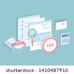 payment of accounts and taxes.... | Shutterstock .eps vector #1410487910
