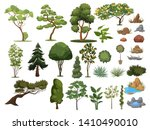 Set Of Trees And Shrubs....