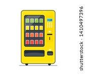 vending machine filled outline... | Shutterstock . vector #1410497396