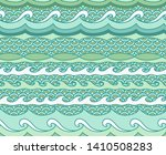 abstract ocean waves background.... | Shutterstock .eps vector #1410508283