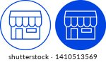 store icon in circle. vector... | Shutterstock .eps vector #1410513569