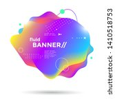 creative design fluid banner...   Shutterstock .eps vector #1410518753