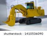 model heavy excavator on the... | Shutterstock . vector #1410536090
