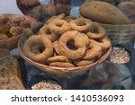 tasty cookies on a shop window. ... | Shutterstock . vector #1410536093