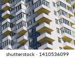 detail of the facade of a... | Shutterstock . vector #1410536099