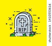 gravestone cemetery icon. rip... | Shutterstock .eps vector #1410553616