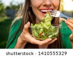 beautiful caucasian woman... | Shutterstock . vector #1410555329