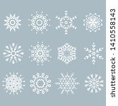 snowflakes icon collection.... | Shutterstock .eps vector #1410558143