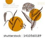 vector millet and foxtail...   Shutterstock .eps vector #1410560189