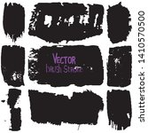 paint strokes with a dry brush... | Shutterstock .eps vector #1410570500