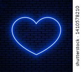neon heart sign isolated on... | Shutterstock .eps vector #1410578210