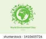 world environment day vector.... | Shutterstock .eps vector #1410605726