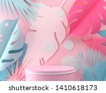 abstract pastel color geometric ... | Shutterstock . vector #1410618173