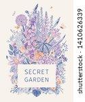 Secret Garden. Flower Frame....