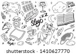 sleep time concept. hand drawn... | Shutterstock .eps vector #1410627770
