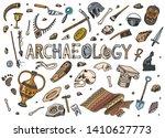 Set Of Archeology Tools ...