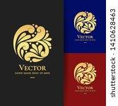 circle logo design with golden... | Shutterstock .eps vector #1410628463