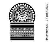 tribal tattoo pattern  art... | Shutterstock .eps vector #1410642533