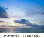 blue sky with clouds and sea ... | Shutterstock . vector #1410645263
