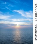 sunset blue sea and blue sky... | Shutterstock . vector #1410647726