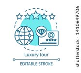 luxury tour concept icon.... | Shutterstock .eps vector #1410649706