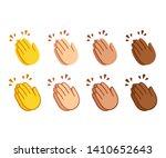 clapping hands emoji set.... | Shutterstock .eps vector #1410652643