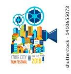 film festival  cinema and movie ... | Shutterstock .eps vector #1410655073