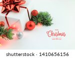 christmas and new year greeting ... | Shutterstock . vector #1410656156