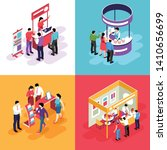 isometric expo design concept...   Shutterstock .eps vector #1410656699