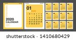 Calendar 2020  Set Desk...