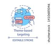 theme based targeting concept...   Shutterstock .eps vector #1410685046