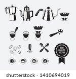 manual coffee maker vintage... | Shutterstock .eps vector #1410694019
